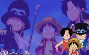 Sabo x Luffy x Ace by OnePieceSrinex3