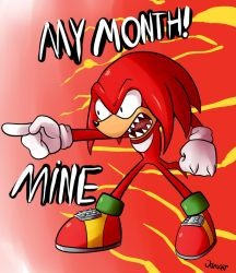 Knuckles month by JamoART