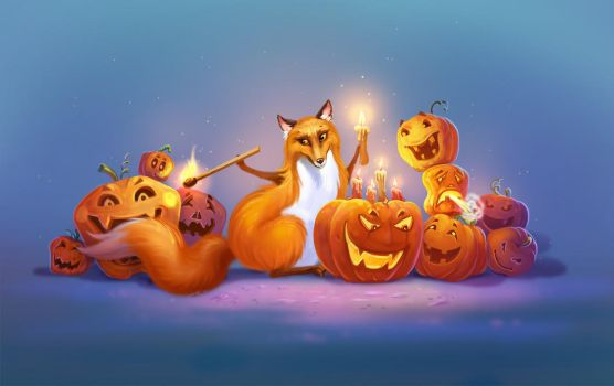 Halloween Fox2 by LouieLorry