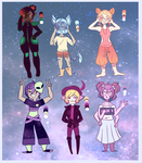 Space themed adopts  by gh0stbun