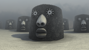 Voodoo Moai by hypex2772