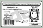 my deviantLICENSE by livingdoll