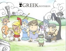 Greek Pantheon by MurderousAutomaton
