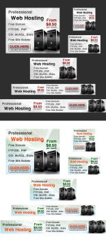 Free 12 Web Hosting Banner by isfahangraphic