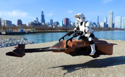 Speeder bike at the Lakefront by kilroyart