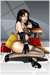 Commission: 50s pin-up Julie by DaggerPoint
