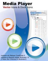 Media Player Vector Icons by tiburi