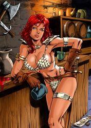 Redsonja Drunk - Colored by ...? by ReneMicheletti