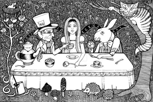 Mad Hatters Tea Party by AnitaInverarity