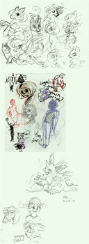 Fall 2012 SketchDump pt2 by Laura-the-animator