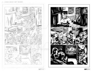 MARVEL Sample Page 1 - Pencils and Inks by ZUCCO-ART