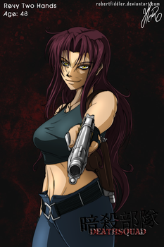 Death Squad Character Poster: Revy Two Hands by WFTC141
