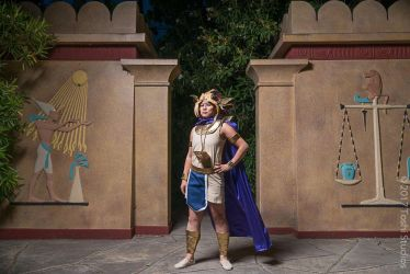 Yugioh Cosplay - Pharaoh Atem - At the gates by slifertheskydragon