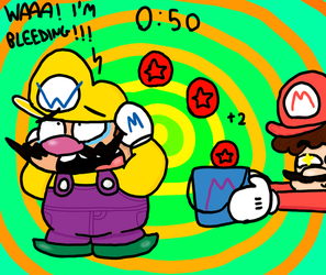 Wario's injured by genny03