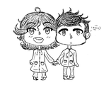 Supernatural: Cas and Sammy!! by Milky-Nya