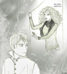 Wait - Hermione and Ron by LagoonNymph