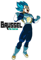Super Saiyan Blue Vegeta New Movie 2018 by BrusselTheSaiyan