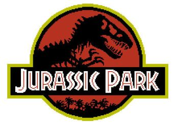 Jurassic Park Free Cross Stitch Pattern by BunBunK