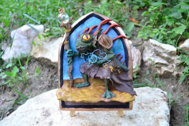 Morgl, The Oracle - Hearthstone Sculpture by AntonioBalicevic