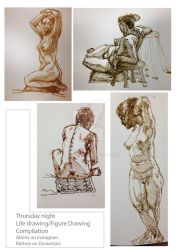 Compilation One: Figure Drawing on Thursday Night by rattree