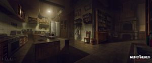 REMOTHERED: Tormented Fathers - Kitchen (Concept) by Chris-Darril