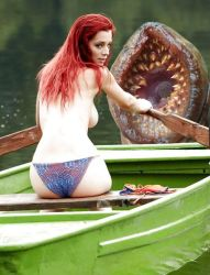 Vore Manip: Lamprey attacks topless girl on boat by wsaef