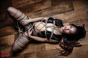 Asian beauty, tied up - Fine Art of Bondage by Model-Space