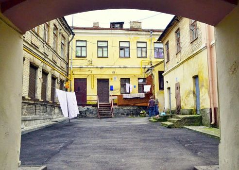 Authentic Grodno Courtyard by Alenkamouse