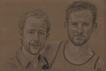 Billy Boyd and Dom Monaghan by lurking-anne