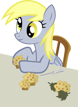 Derpy with Muffins by lykas13