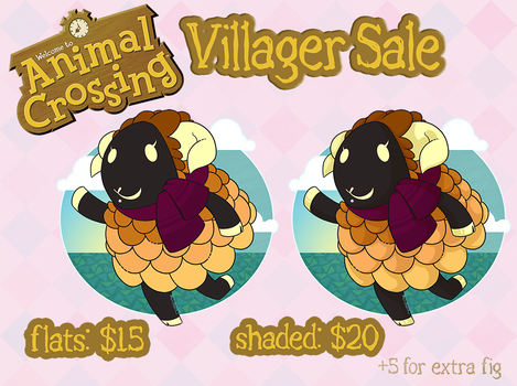 Animal Crossing Villager Sale by RottingRoot
