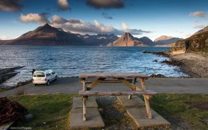 The bench with the view of all views by LordLJCornellPhotos