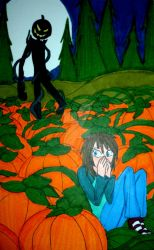 Fright in the Pumpkin Patch by InkArtWriter