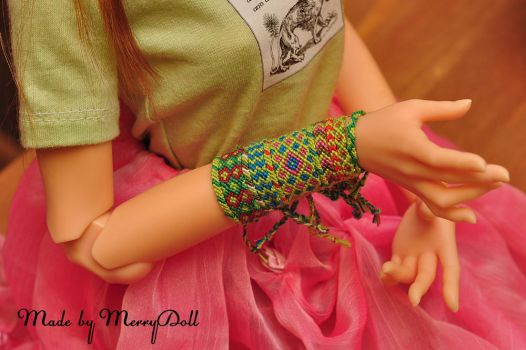 Assorted friendship bracelets for BJD by mary-vassilieva