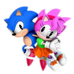 (Neverbefore Released) Sonic and Rosy CD Render by Nibroc-Rock