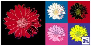 Andy Warhol Pop Art Flower - Photoshop Tutorial by tastytuts