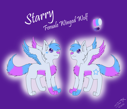 Starry The Winged Wolf Refrence Sheet! ..:2012:.. by starrywolfie