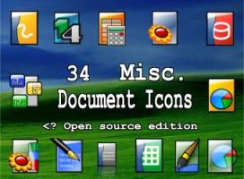 34 document icons by zman3