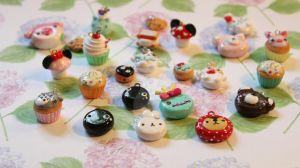 Polymer Clay Charms! by funkypinkgal