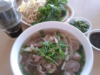 Beef Pho and Vietnamese Coffee by njomany