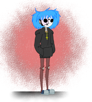 New ArtStyle ft. Sally Face by AngelB0y