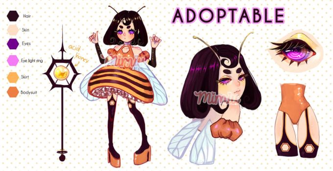 [ ADOPTABLE ] CLOSED - Queen BEE - by MiiMiiu