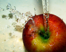 Apple Splash by StormiePhotos