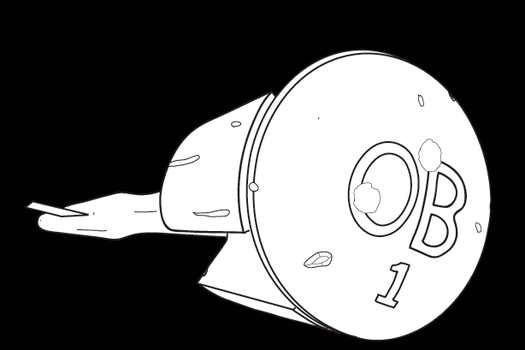 Starship OB-1 Lineart by Dyl-Rob