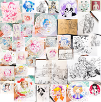 Traditional Art Collection: June-July 2017 by ToasterKiwi