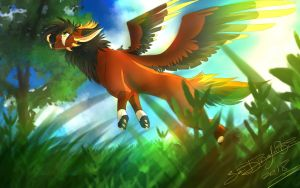 COMMISSION for KristaX by Jei-Dinofelini