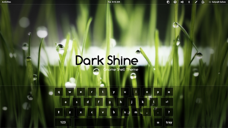 Gnome Shell - Dark Shine by satya164