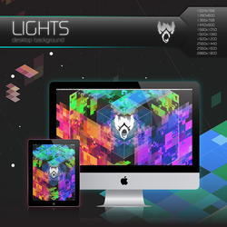 Wolfgun LIGHTS Desktop Background by Bonvallet