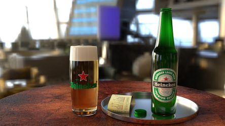 Heiniken  Beer , Cinema 4D by BenC4D