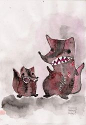 racoons by tainaktis